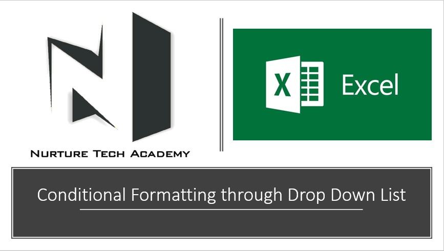 Conditioanl formatting through drop down list